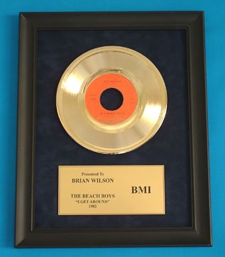 "BEACH BOYS VINTAGE GOLD 45 RECORD AWARD ""I GET AROUND"""
