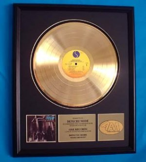 DEPECHE MODE GOLD RECORD AWARD - PEOPLE ARE PEOPLE