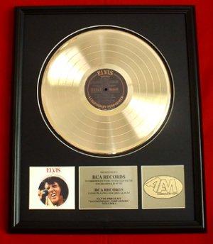"ELVIS PRESLEY GOLD RECORD AWARD ""A LEGENDARY PERFORMER"""