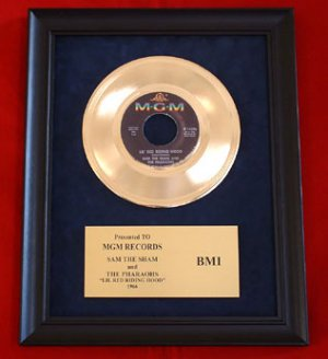"""SAM THE SHAM AND THE PHARAOHS GOLD RECORD AWARD """"LIL RED RIDING HOOD"""""""
