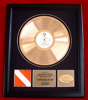 "VAN HALEN GOLD RECORD AWARD ""DIVER DOWN"""