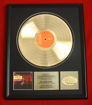"ELVIS PRESLEY GOLD RECORD AWARD ""ELVIS IN MEMPHIS"""