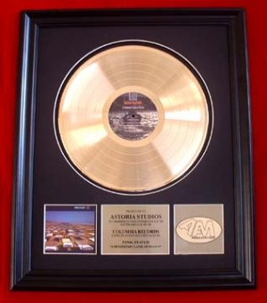 """PINK FLOYD GOLD RECORD AWARD """"MOMENTARY LAPSE OF REASON"""""""