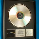 "PINK FLOYD PLATINUM RECORD AWARD ""DARK SIDE OF THE MOON"""