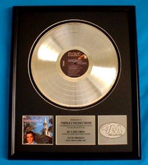 "ELVIS PRESLEY PLATINUM RECORD AWARD ""HOW GREAT THOU ART"""