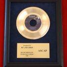"ELVIS PRESLEY VINTAGE GOLD 45 RECORD AWARD ""SUSPICIOUS MINDS"""