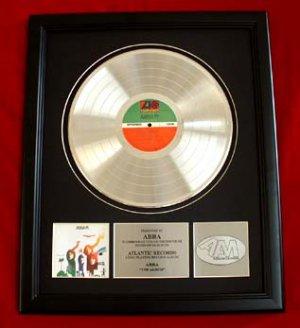 "ABBA PLATINUM RECORD AWARD ""THE ALBUM"""