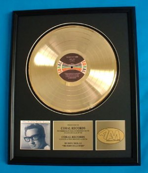 "BUDDY HOLLY GOLD RECORD AWARD ""THE BUDDY HOLLY STORY"""