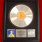 ELVIS PRESLEY PLATINUM RECORD AWARD - E.P. ENTERTAINMENT
