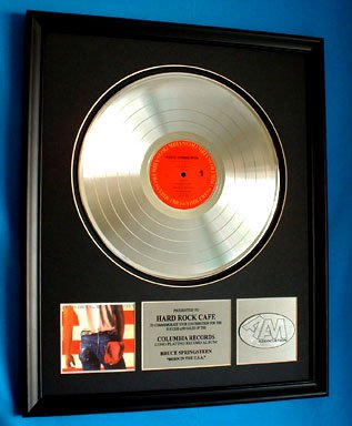 "BRUCE SPRINGSTEEN PLATINUM RECORD AWARD ""BORN IN THE U.S.A."""
