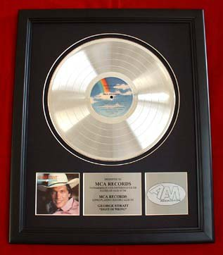 """GEORGE STRAIT PLATINUM RECORD AWARD """"RIGHT OR WRONG"""""""
