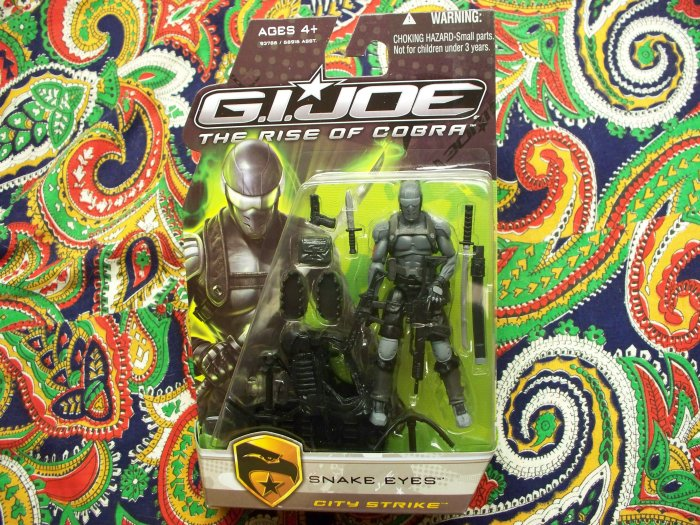GI Joe Snake Eyes City Strike Action Figure GI Joe Movie Rise of Cobra