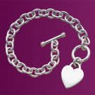 Sterling Silver Bracelet with Heart Pendant