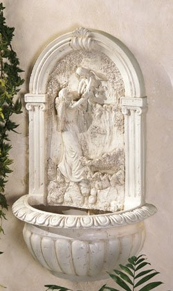 Angel & Child Wall Fountain