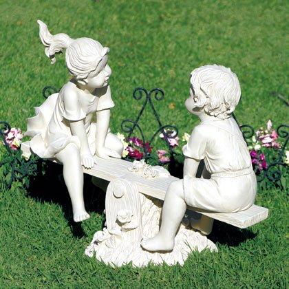 Children on Seesaw Garden Statue