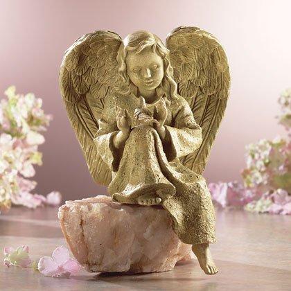 Angel With Bird Statue