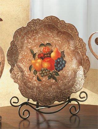 Antique-Look, Fruit Design Decorative Plate.