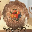 Antique-Look, Fruit Design Decorative Plate.