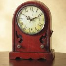 Wood Desk Clock, Resembles an Antique Radio.
