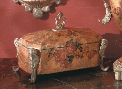 Antique-Look Rose Design Decorative Treasure Box.