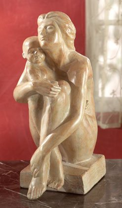 Classic Mother and Child Sculpture.