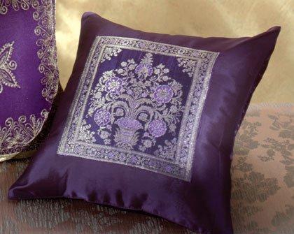 Purple Throw Pillow.