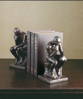 Rodin's Thinker Bookends.
