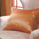 Orange Sun Pattern Throw Pillow.