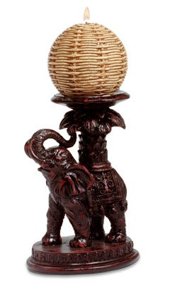 Antique-Look Elephant Candle Holder.