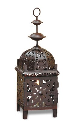 Moroccan-Style Metal Candle Lantern For Votive Candles Only.
