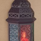 Moroccan-Style Metal Candle Lantern For Tealight or Votive Candles Only.