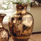Ginger jar design pewter and brass vase