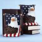 American eagle bookends.