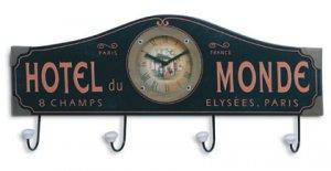 Hotel Du Monde Clock and Coat Hanger