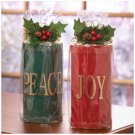 FESTIVE PILLAR CANDLE SET