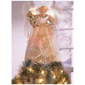 FIBER OPTIC GOLD ANGEL TREE TOPPER