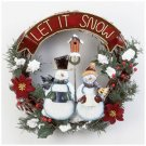 LET IT SNOW SNOWMEN WREATH