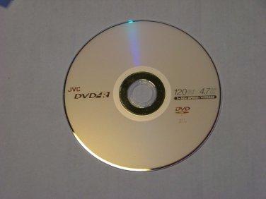 5 Pack JVC 16X DVD-R DVDR Blank Media Disc 4.7GB