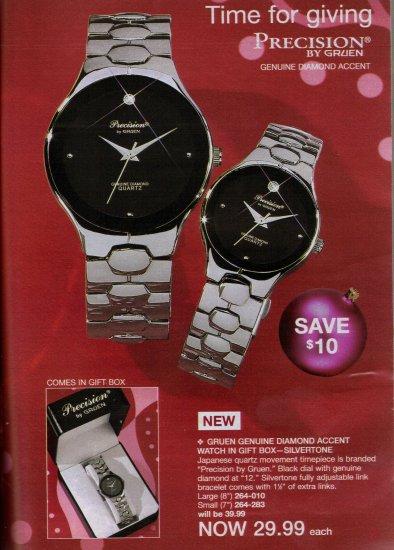 Gruen Genuine Diamond Accent Watch in Gift Box-Silvertone