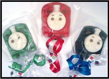Thomas the Train lollipop favors