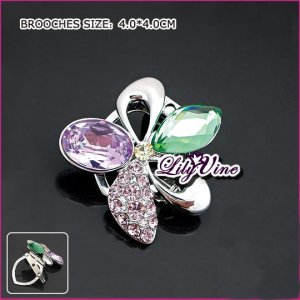 Luxury Crystal Flower Brooch