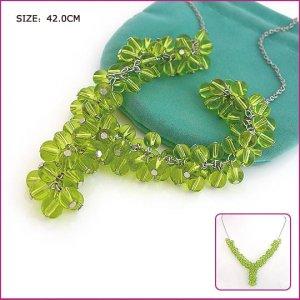 Silver (925 Sterling) Green Garnet Pendants, Necklaces, Sterling Silver