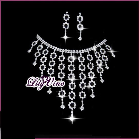 Starry Sky Crystal Jewelry Set, Sets