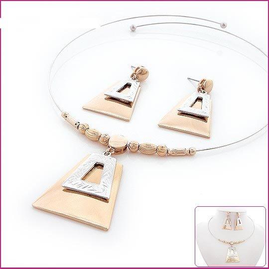 Golden Pyramid Jewelry Set, Sets