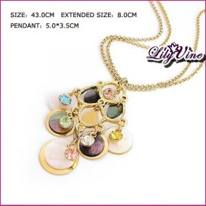 Lucky Colorful Crystal & Shell Necklace, Necklaces