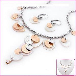 Lotus Leaf Shell & Crystal Jewelry Sets, Sets