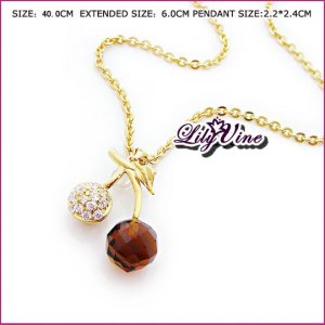 Shining Cherry Necklace, Necklaces