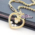 Golden Heart Zircon Necklace, Necklaces