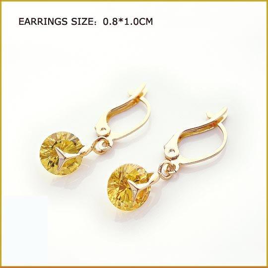 Citrinel Pierced Earrings, Pierced earrings, Earrings