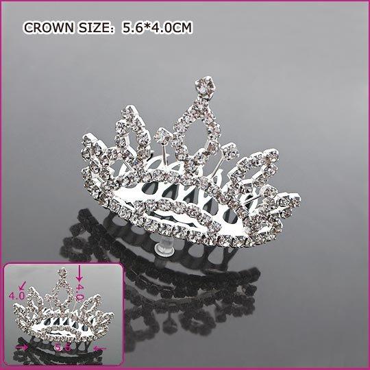 Romantic Zircon Bride Crown, Tiaras